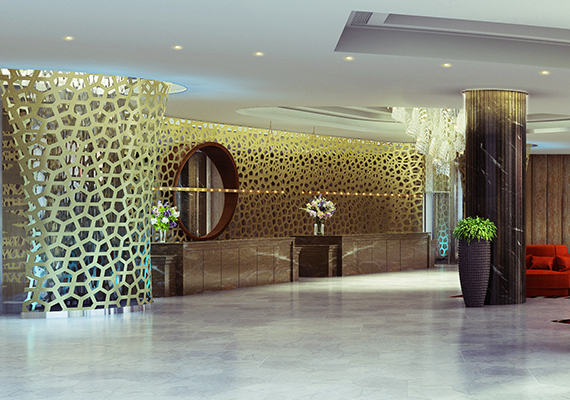 ITC colombo lobby,comissioned by Design Wilkes .
