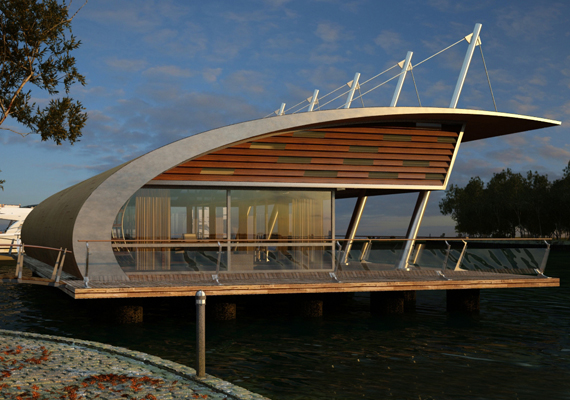 the riverside house, an experimental works for design and 3d renderings.